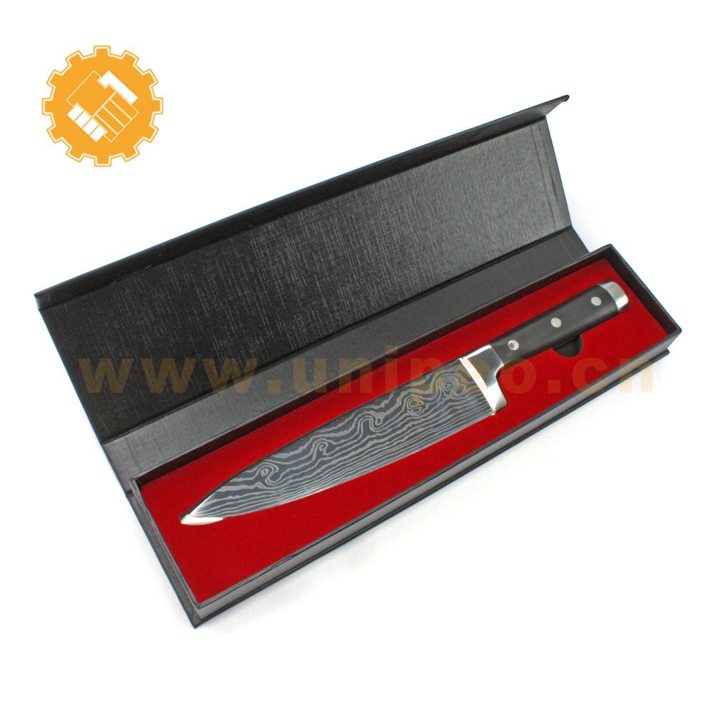 Red eva gift box forever sharp knives free sample g10 knife