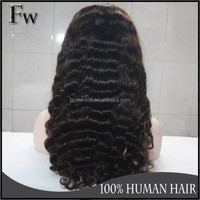 Fashion high quality deep wave full lace wigs wholesale raw unprocessed virgin mink human hair full lace wig with baby hair