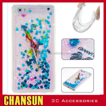 2017 national style 3D love Liquid Quicksand Glitter TPU case for Huawei p9 lite back cover