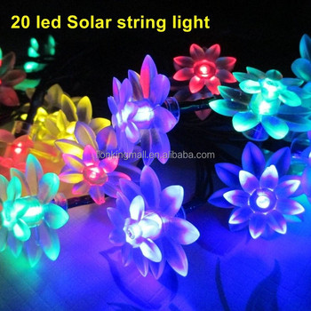 Solar Power 20 LED String Fairy Light Xmas Garden Led Strip Lights Garden  Christmas Party Leds