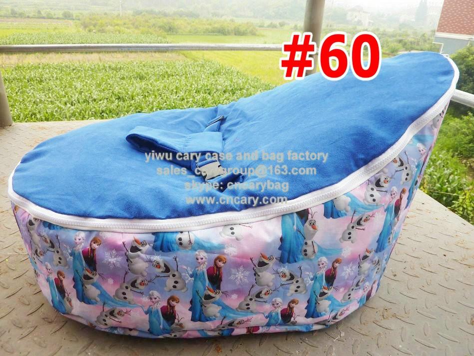 Pink Elephant Print Newborn Bean Bag Snuggle Bed Portable Seat Nursery Baby Sleeperbaby