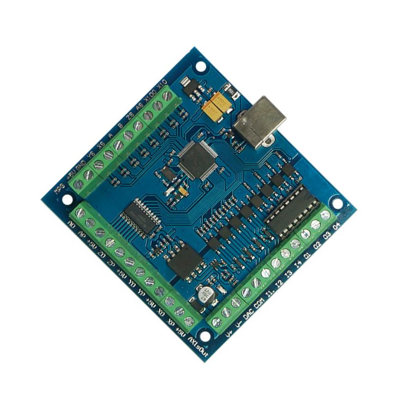 8CNC USB mach 3 100Khz breakout junta 4 Ejes Controlador de movimiento del controlador de DHL EU