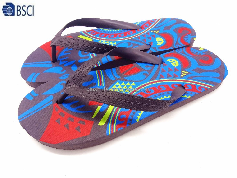ca5cb1a4979e Oem Cool Design Printed Pe Sole Slippers Flip Flops Shoes For Men - Buy Oem Printed  Slippers