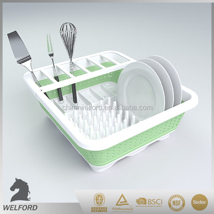 hot selling food grade reusable kitchen dish rack with drainer