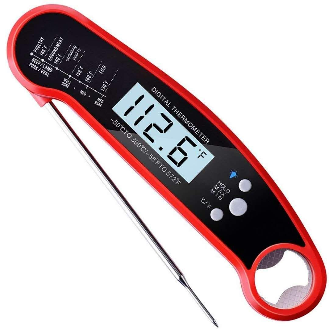 Waterproof Candy Thermometer- Super Fast Instant Read BBQ Thermometer, Backlit Function Cooking Thermometer for: Food, Candy,Meat, Milk, BBQ, Grill Smokers