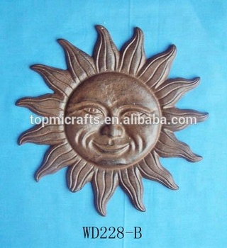 Cast Iron Sun Face Wall Decor Use For Decoration Hanging Product On