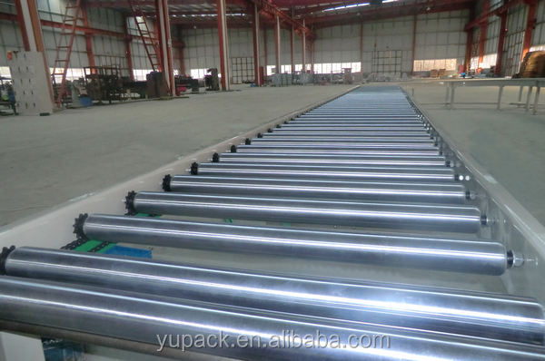 cheap powered chain roller conveyor/Live Roller Spool Conveyor with single chain