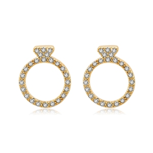 Stud Earrings for Women Girls Men Triangle round Circle with cz diamond Earrings ear studs