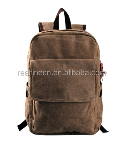 Simple Designer Travel Canvas Laptop Backpack