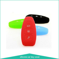 Protective Silicone Key Cover Keyless Entry Remote Fob Shell Car Key Case,3 Buttons Silicone Key Cover