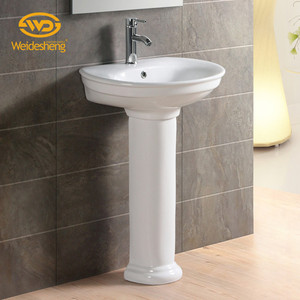Direct selling bathroom prices sanitary ware pedestal sink small size wash basin