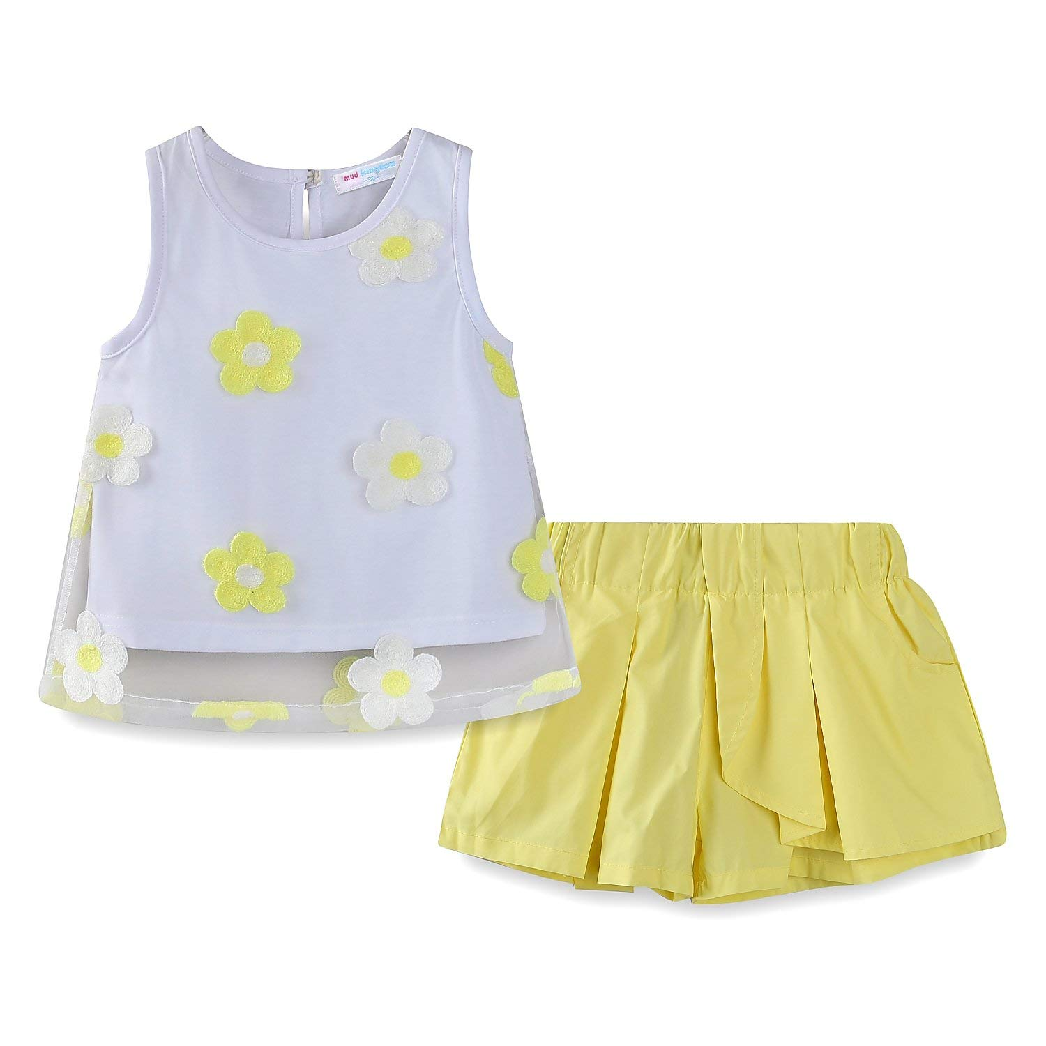 852e91556ea Get Quotations · Mud Kingdom Little Girls Outfits Summer Holiday Sunflower