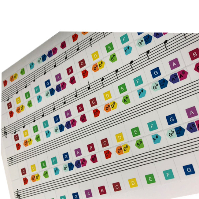 New design simple design sticker transparent printed sticker musical instrument label competitive price