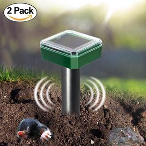 Solar Powered Sonic Pest Deterrent, 1 Pack 2Pack 4 Pack 6 Pack, Repelling Mole, Gopher, Snake, Vole Chaser for Outdoor Lawn Gard