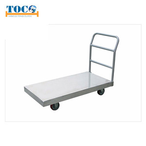 China four-wheel carbon steel platform trolley foldable price