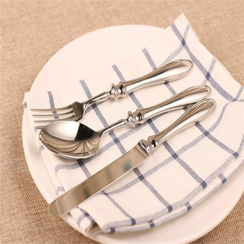 Promotional stainless steel 3 pcs Tableware set Spoon fork knife tableware