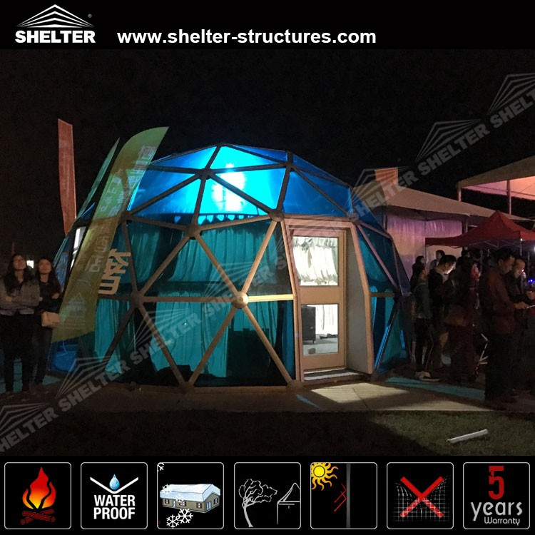 Commercial Decorative Event Dome With Hard Wall System