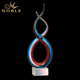 Custom Craft Hand Blown Dancing Art Glass Award Trophy