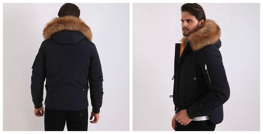 China Suppliers Real Fur Parka Mens Designer Jacket Bomber Jacket ...