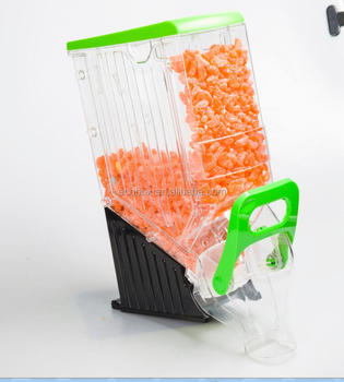 supermarket plastic bulk cereal dispenser for food