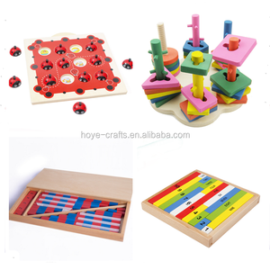 Wooden Montessori toys Montessori toddler materials all kinds of studying toys Preschool teaching tools