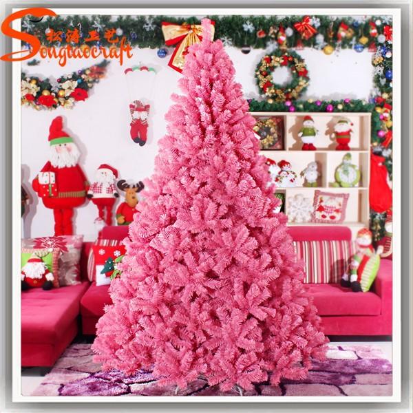 2015 nuevo producto guangzhou giant pvc led iluminado pink - Decoracion arbol navidad 2015 ...
