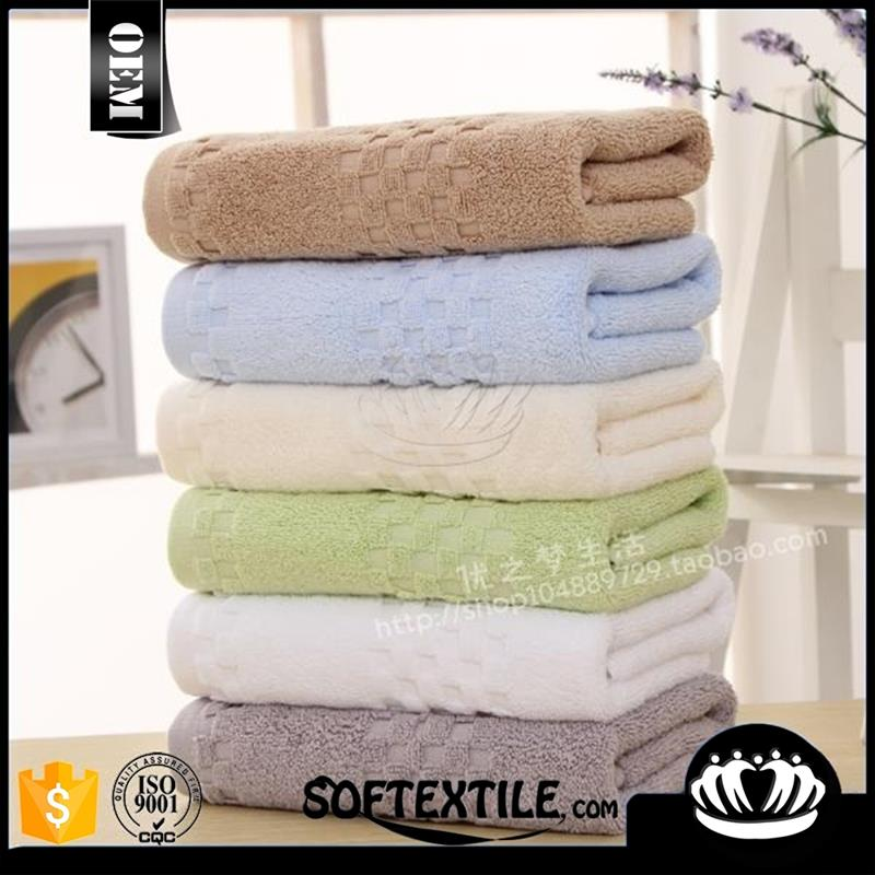 Brand new home trends yarn dyed jacquard bath towell with high quality