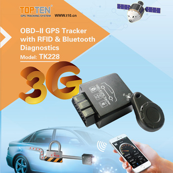 OBD 3g GPS tracking units support Turn off Vehicle and Show Idle