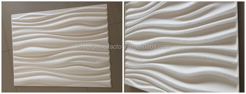 Sound Absorbing Plant Fiber 3d Wandpaneele Home Wall Deco 3d