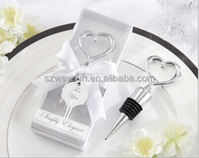 wedding favor gift and giveaways--Simply elegant Heart Love Chrome Bottle Stopper party favor souvenir