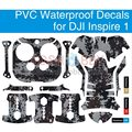 Waterproof PVC Decals Stickers Skin Graphic Wrap Cover Set for DJI Inspire 1 Remote Control Battery