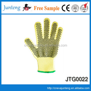 Yellow latex coated auto mechanic work gloves