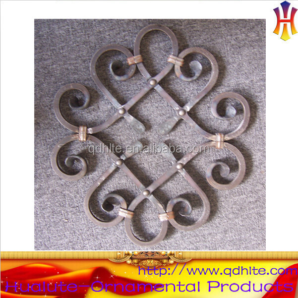 High quality wrought iron ornamental flower panel garden components