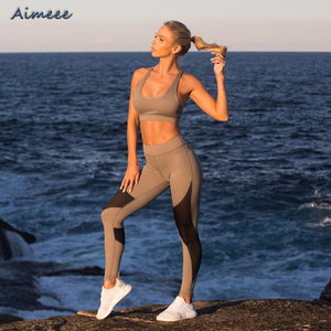 2018 Mesh Sports Bra And Legging Yoga Set For Women