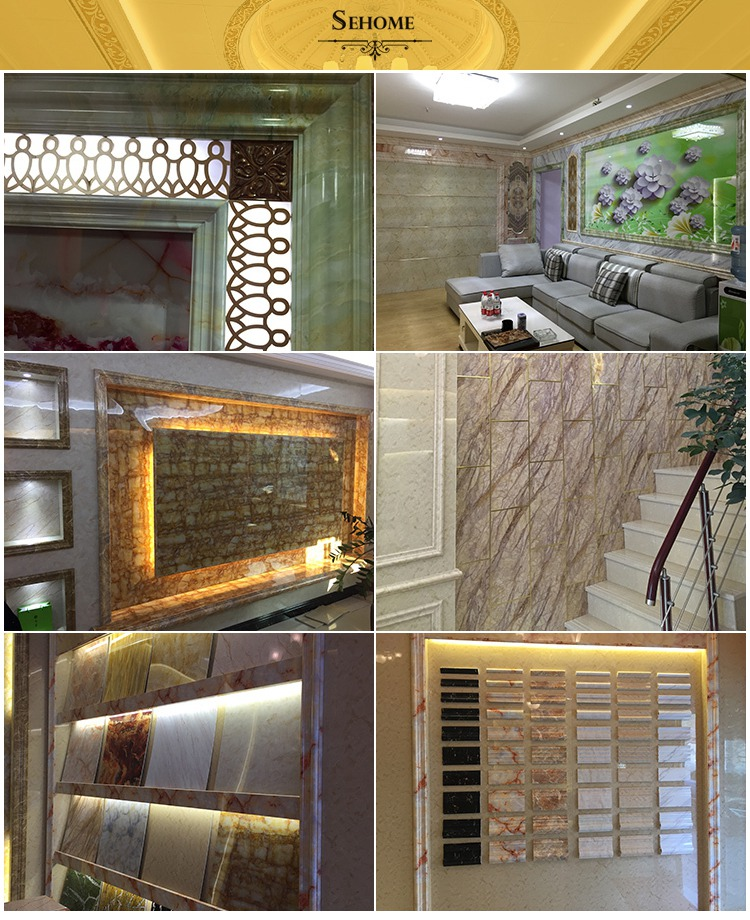 India building materials interior decorative artificial marble sheet molding