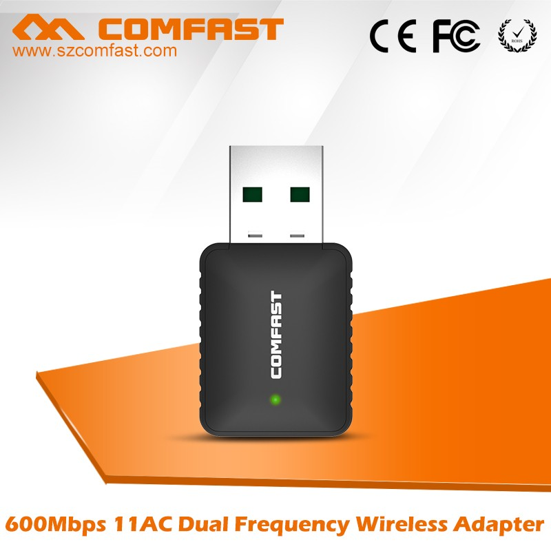 Mini Wireless USB Dongle 600Mbps 802.11ac Comfast CF-915AC Dual Band Network Card