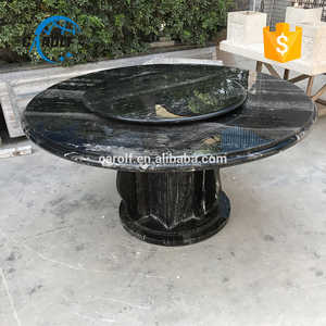 round rotating stone top marble dining table