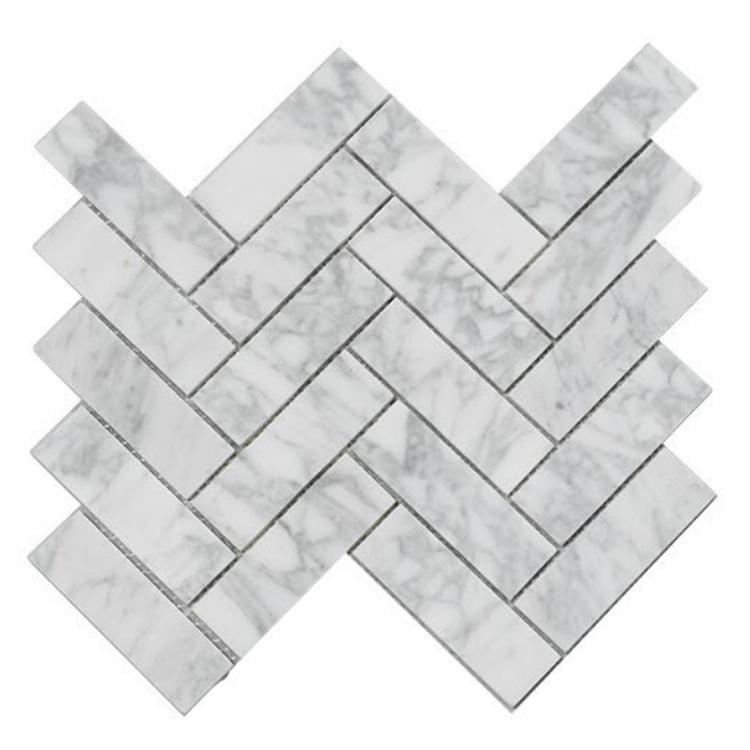 Chevron Carrara C Mosaique
