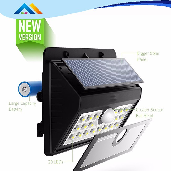 CE RoHS Listed With 5 years warranty IP66 IK10 Solar LED Light LED Solar Light with 120lm/w