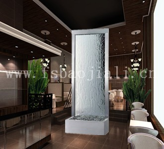 Metal Frame Glass Screen Water Fountain Waterfall For