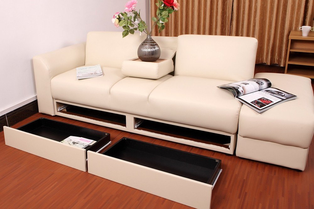2015 Wooden Sofa Bed Hot Selling Living Room Cum Designs