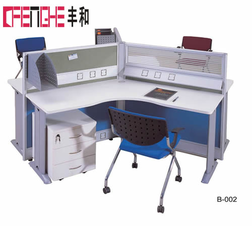 Office Used Furniture Modular Partition Cubicle 4 Person Work Office Desk B-002