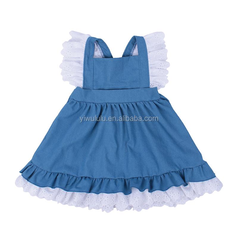 58263b6d3 Venta al por mayor vestidos de vaquera para niñas-Compre online los ...
