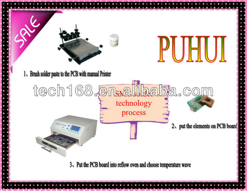 Lead Free Reflow Oven  Automatic Pcb Ic Soldering Machine T