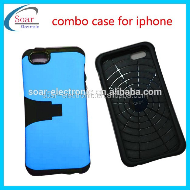 spider 2 in 1 combo case for iphone 6,kickstand slim combo case for iphone6/6 plus
