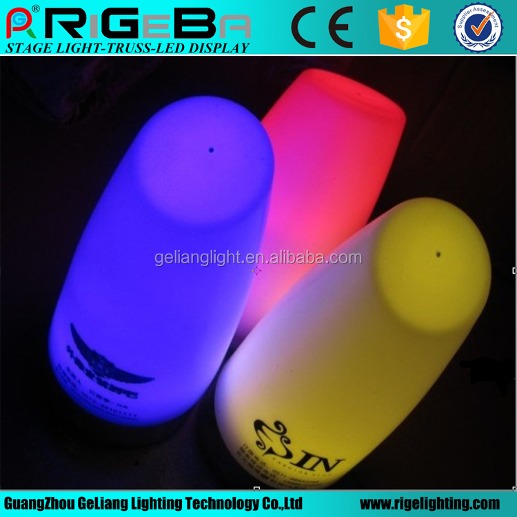 rechargeable battery operated led table lamp for wedding party night club bar