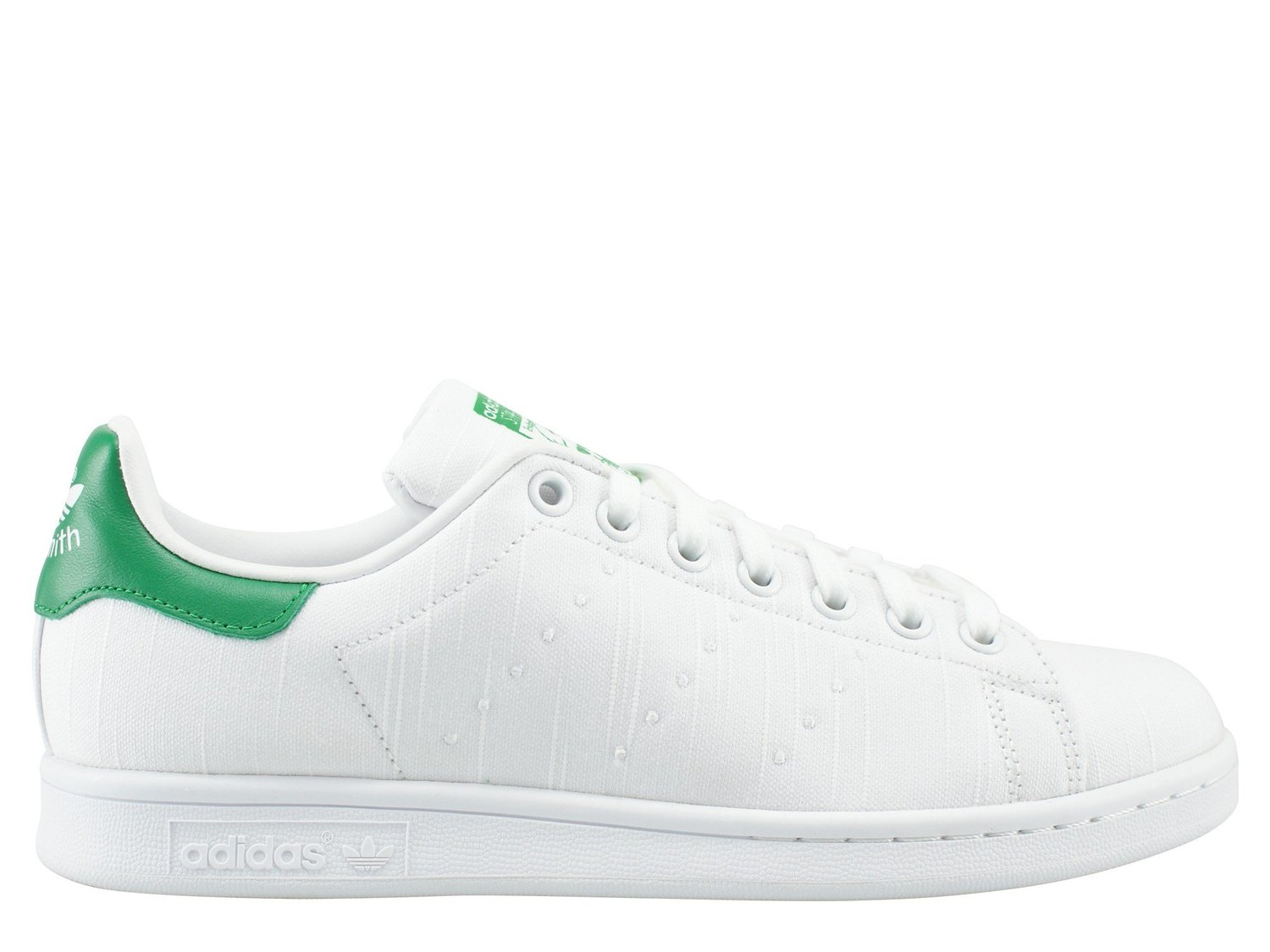 best service eee93 e94c3 Get Quotations · adidas Originals Stan Smith W White Green Textile Trainers