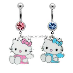 Piercing Jewelry Hello Kitty Navel Ring