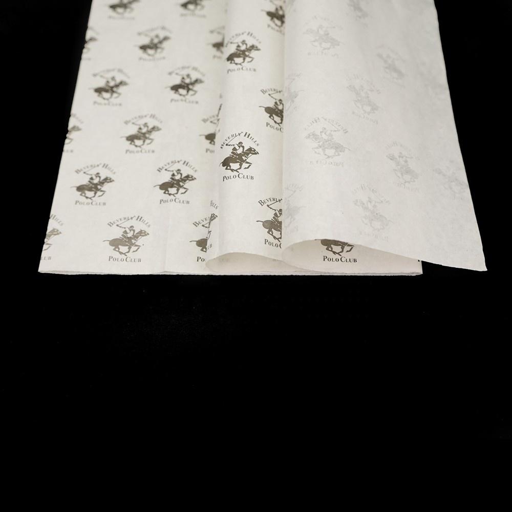 custom color logo printing white tissue silk paper for pear apple fruit gift packaging