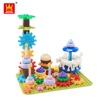 Wange preschool my rotating party educational toys building block bricks plastic toy for girl kids